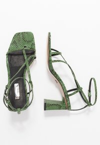 Topshop - NICO HEEL - T-bar sandals - green - 3