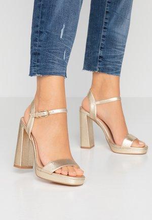 SABINE PLATFORM - Højhælede sandaletter / Højhælede sandaler - gold