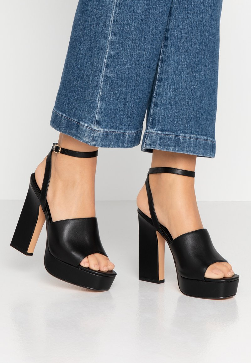 Topshop - RAFA CHUNKY PLATFORM - High heeled sandals - black