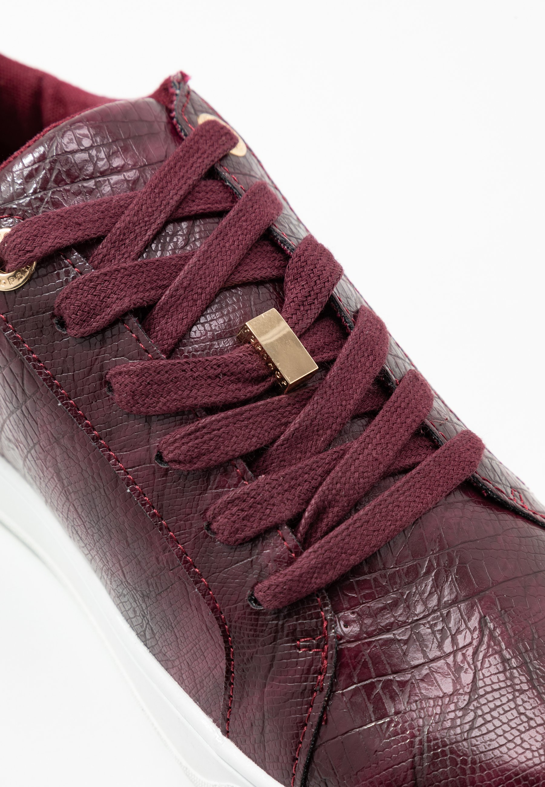 Topshop CABO LACE UP TRAINER Sneakers burgundy