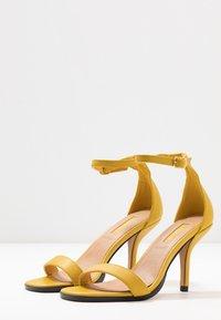 Topshop - SAGE CURVE MID - High heeled sandals - mustard - 4