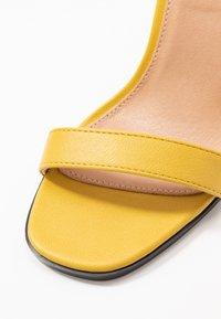 Topshop - SAGE CURVE MID - High heeled sandals - mustard - 2