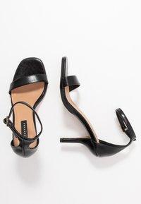 Topshop - SAGE CURVE MID - High Heel Sandalette - black - 3