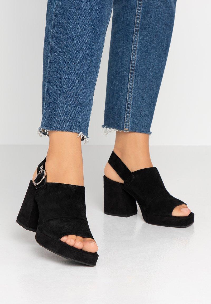 Topshop - NOLAN PLATFORM - Platform sandals - black