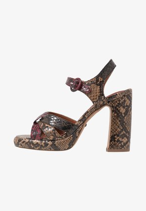 RIPPLE PLATFORM - High heeled sandals - natural