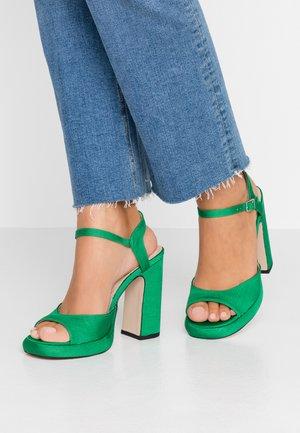 RENO 90S PLATFORM - Sandalen met hoge hak - green