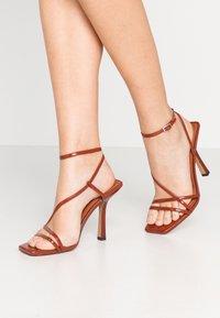 Topshop - RITZ STRAP - Sandály na vysokém podpatku - rust - 0