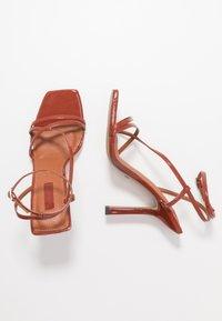 Topshop - RITZ STRAP - Sandály na vysokém podpatku - rust - 3