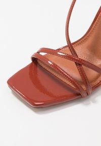 Topshop - RITZ STRAP - Sandály na vysokém podpatku - rust - 2