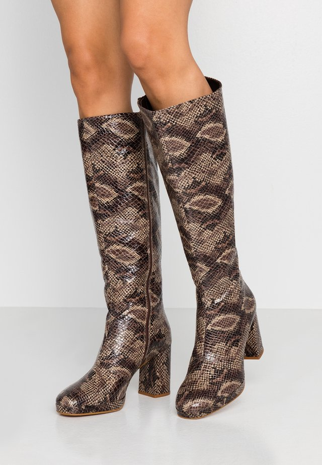 TORONTO KNEE BOOT - Botas de tacón - nature