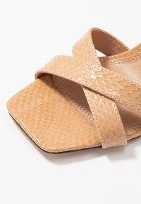 Topshop - SACHA BLOCK ANKLE TIE - Sandales à talons hauts - nude - 2