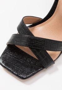 Topshop - SACHA BLOCK ANKLE TIE - Sandali con tacco - black - 2