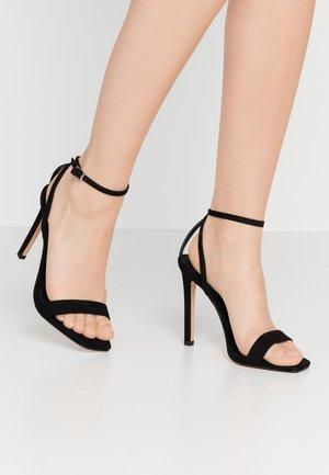 SASKIA - Sandalen met hoge hak - black