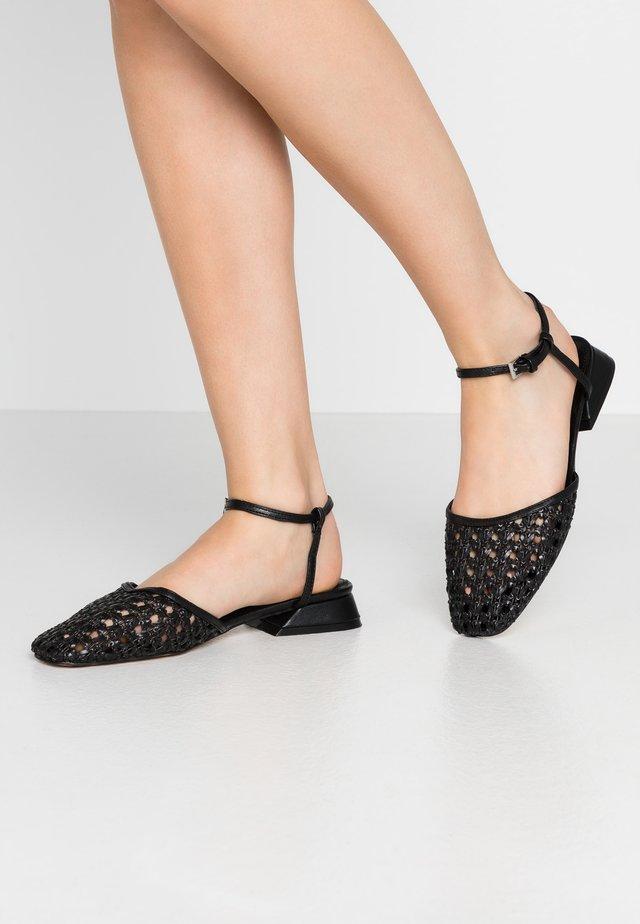 ALICIA ANKLE TIE - Sandals - black