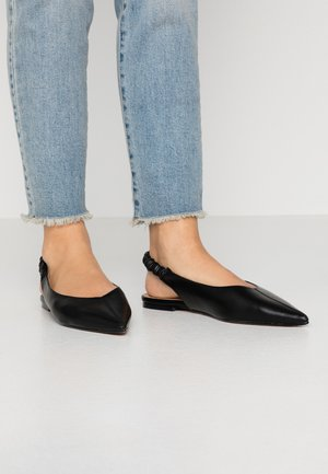 APPLE RUCHE - Slingback ballet pumps - black