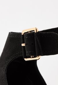Topshop - DAISY BUCKLE BOOT - Ankle cuff sandals - black - 2