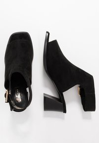 Topshop - DAISY BUCKLE BOOT - Ankle cuff sandals - black - 3
