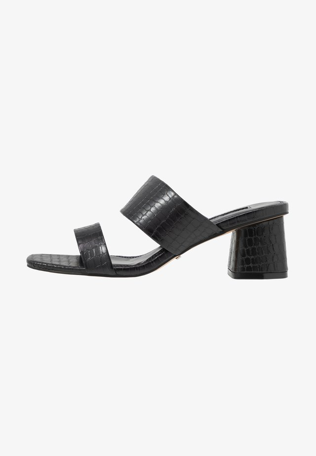 DINA BLOCK MULE - Pantolette hoch - black