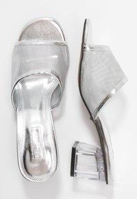 Topshop - DUSTY PERSPEX MULE - Mules à talons - silver - 3