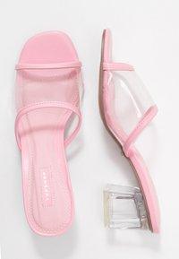 Topshop - DUSTY PERSPEX MULE - Mules à talons - pink - 3