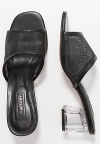 Topshop - DUSTY PERSPEX MULE - Mules à talons - black - 3