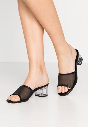 DUSTY PERSPEX MULE - Sandaler - black