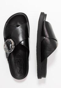 Topshop - PEDRO FOOTBED - Sandalias planas - black - 3