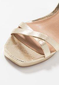 Topshop - SIENNA PLATFORM - High heeled sandals - gold - 5