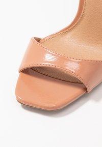 Topshop - SILVY SKINNY PART - Sandales à talons hauts - blush - 2