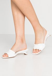 Topshop - FRILL MULE - Mules - white - 0