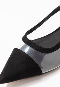 Topshop - ALICE PERSPEX SHOE - Slingback ballet pumps - black - 5