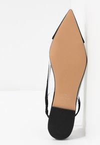 Topshop - ALICE PERSPEX SHOE - Slingback ballet pumps - black - 4