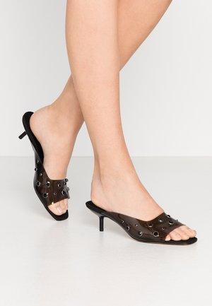 PERSPEX MULE - Pantofle na podpatku - black