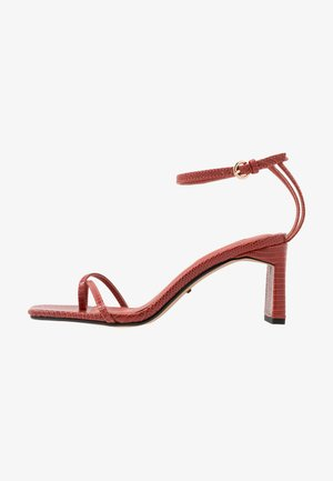 NATURE STRAPPY BLOCK - T-bar sandals - rust
