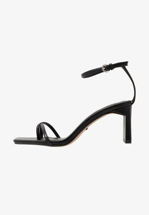 NATURE STRAPPY BLOCK - T-bar sandals - black