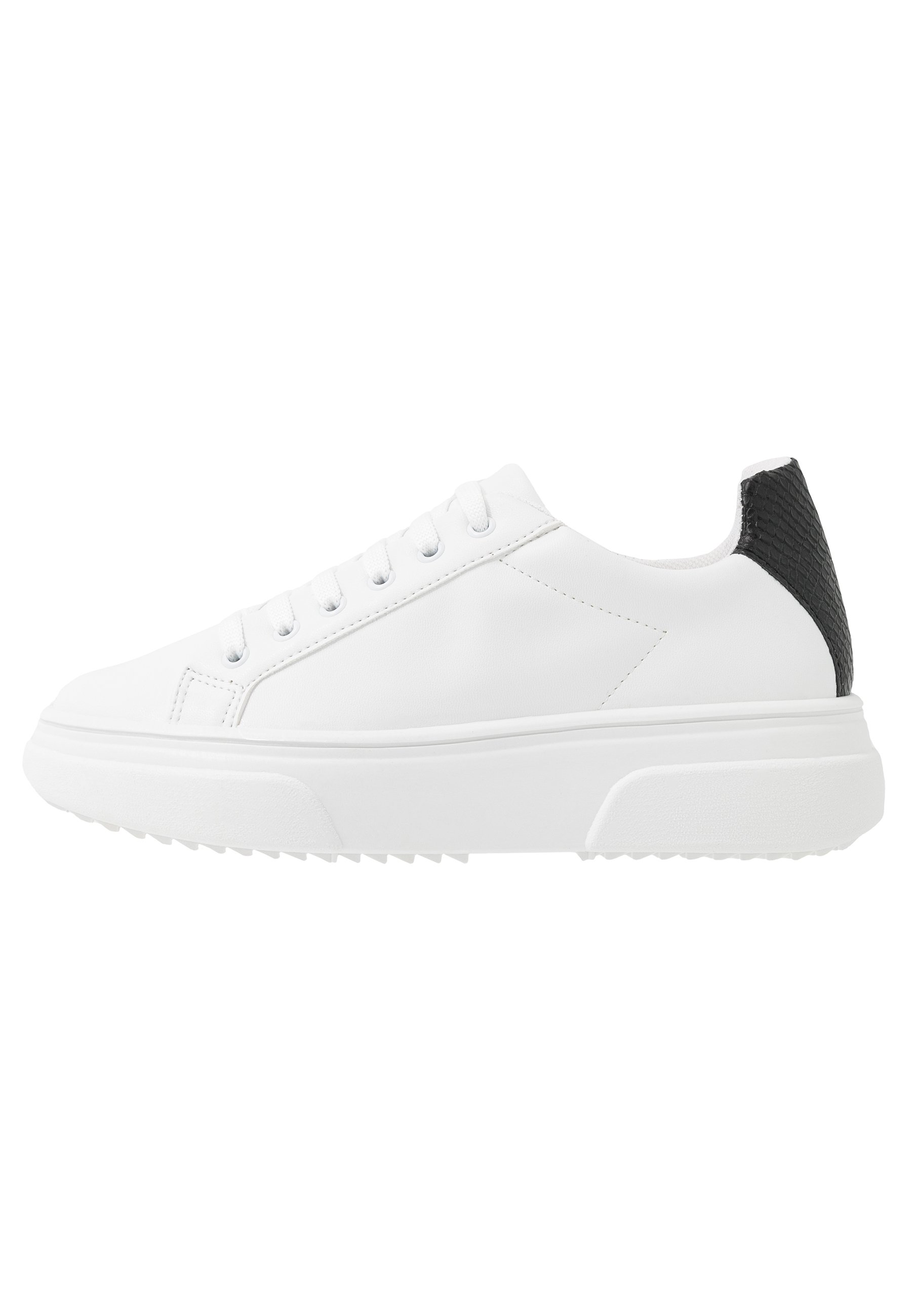 Topshop Canada Lace Up Trainer - Sneakers Laag Monochrome Goedkope Schoenen