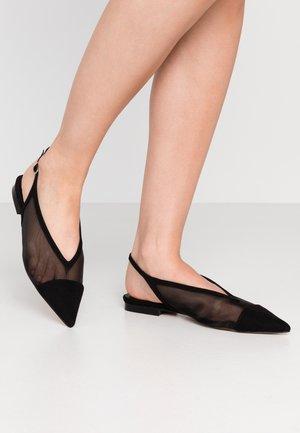 AVRIL POINT - Slingback ballet pumps - black