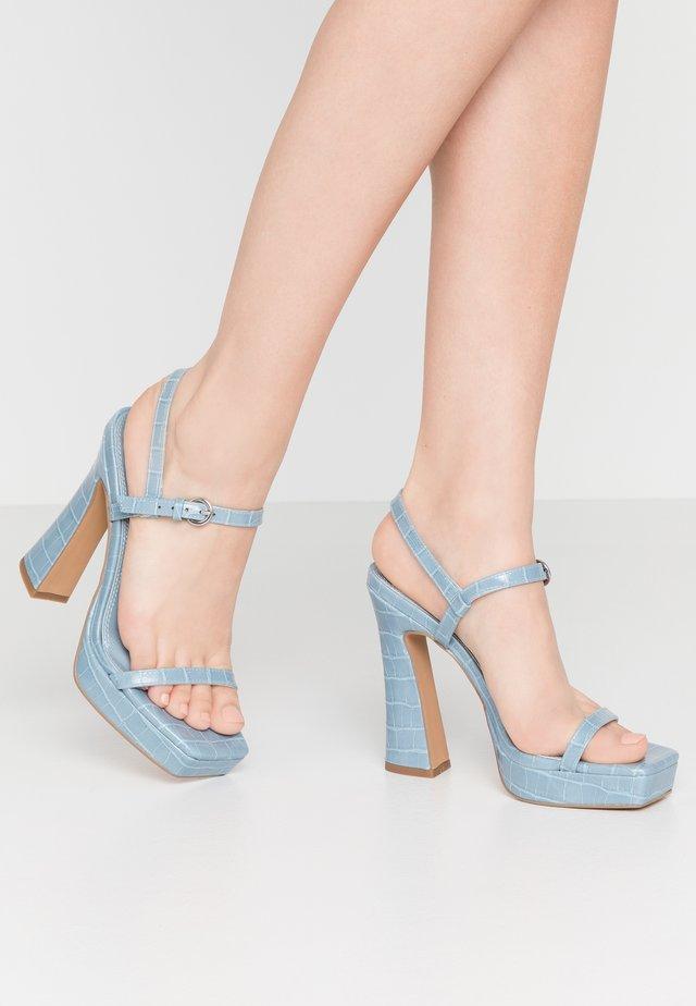 RENA PLATFORM - Sandales à talons hauts - pale blue