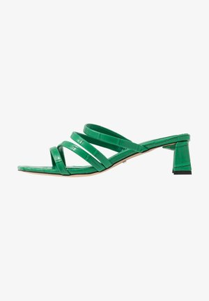 DIXIE MULE - Heeled mules - green