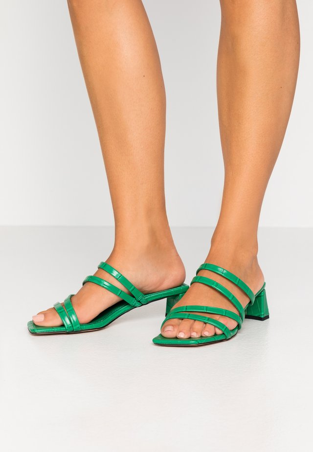 DIXIE MULE - Pantolette hoch - green