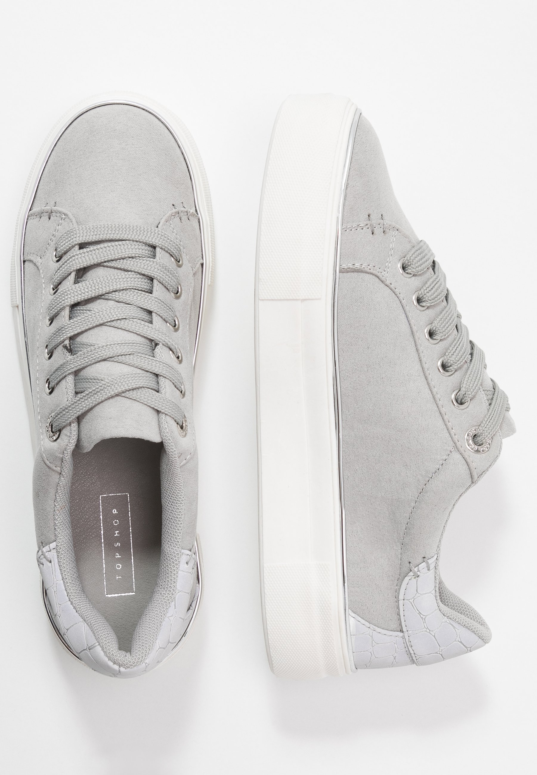 Topshop CLOVER LACE UP TRAINER - Sneakersy niskie - grey