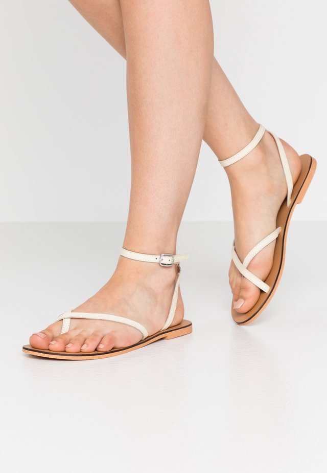 PANDA - T-bar sandals - offwhite