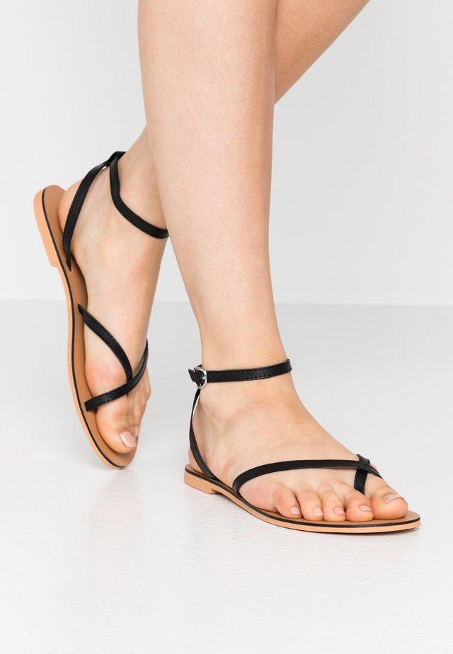 PANDA - Sandalias de dedo - black