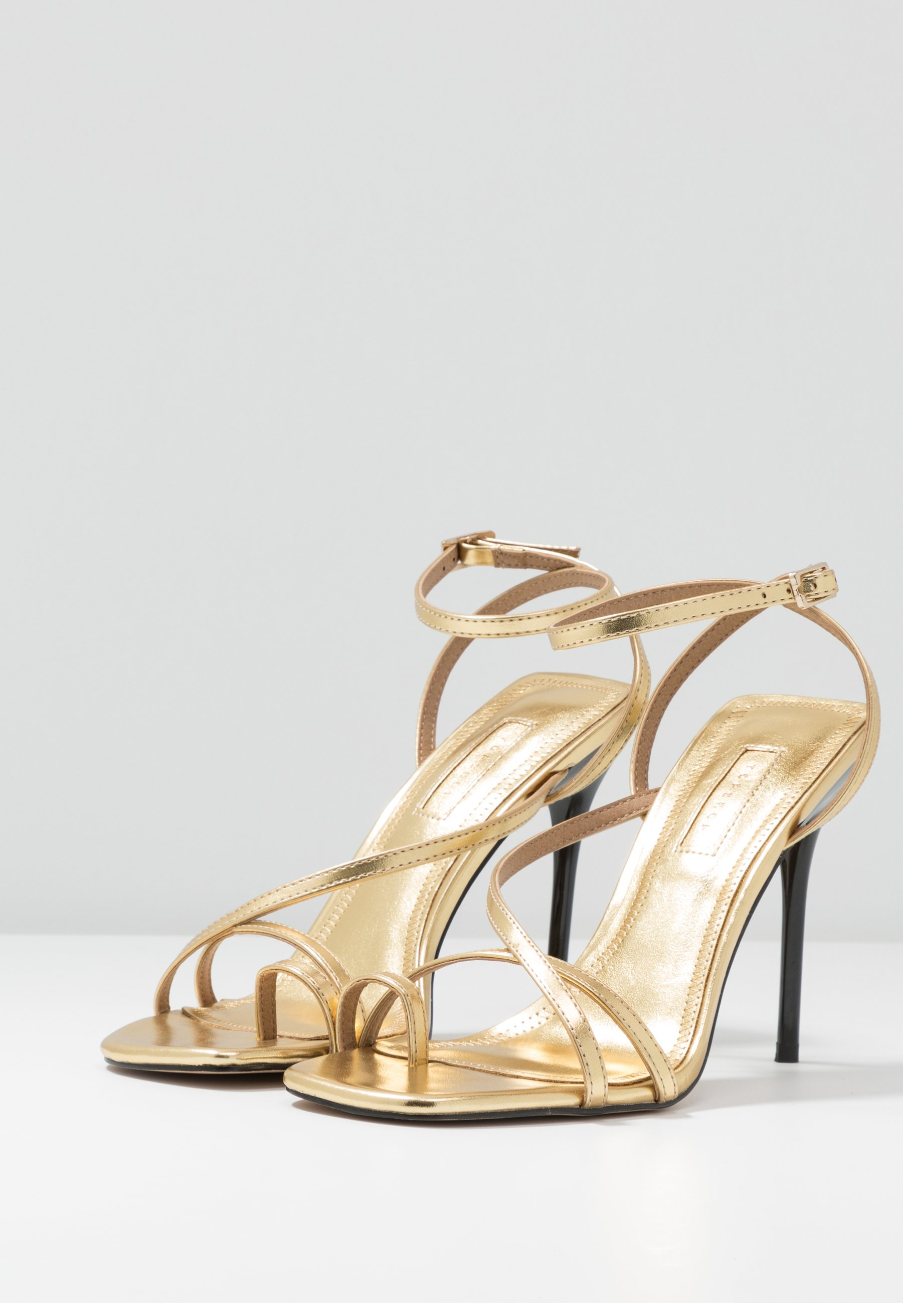 Topshop RISE STRAPPY  - High Heel Sandalette - gold