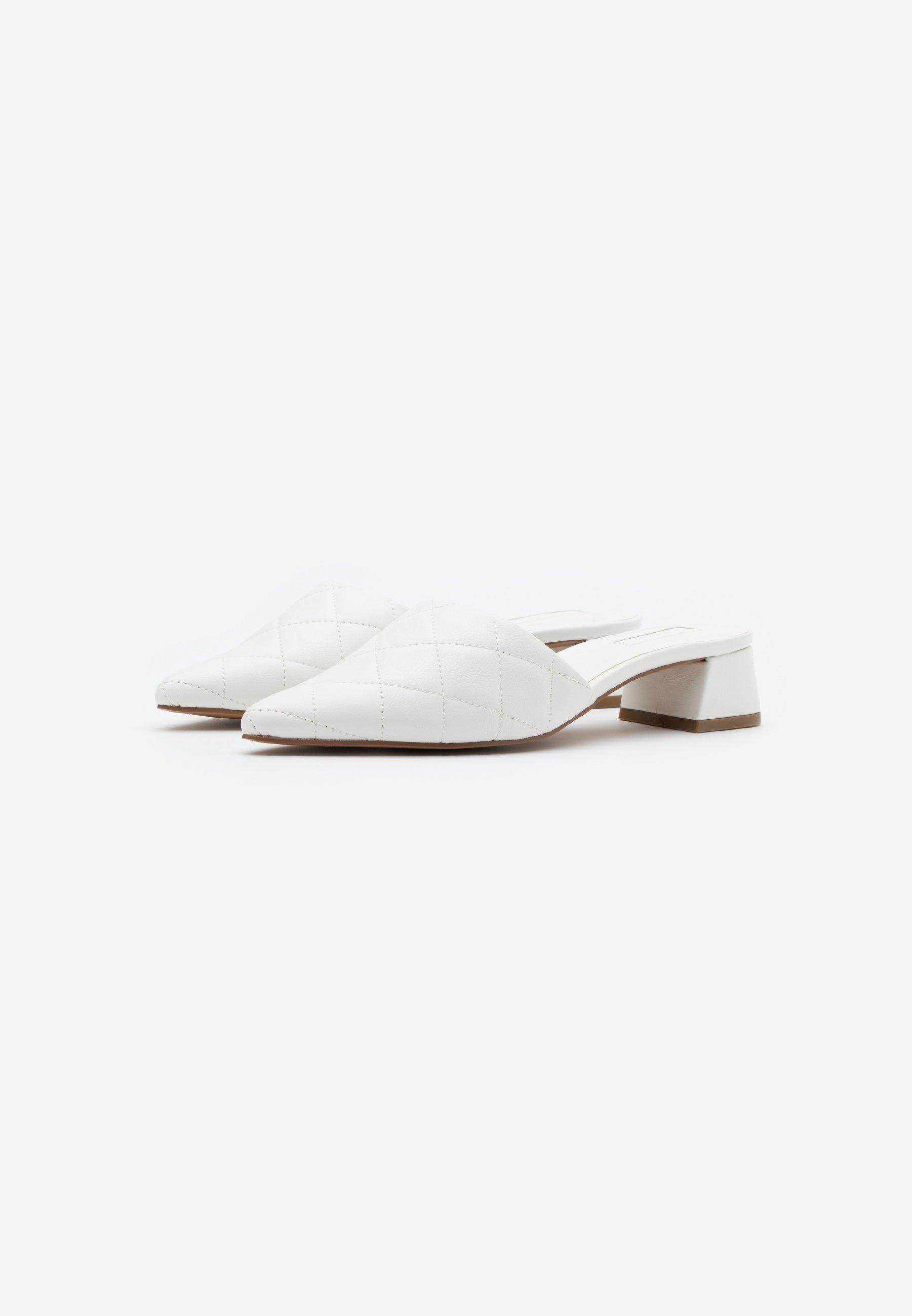 Topshop Lola Quilted Mule Top Up - Muiltjes White Goedkope Schoenen