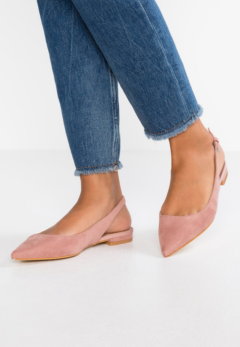 Topshop - ALLY SLINGBACK POINT - Sling-Ballerina - nude