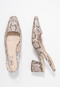 Topshop - JUSTIFY SLING COURT - Classic heels - natural - 3