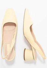 Topshop - JUSTIFY SLING COURT - Classic heels - lemon - 3