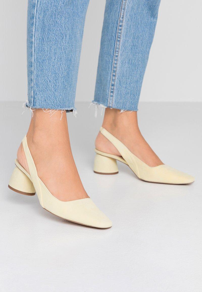 Topshop - JUSTIFY SLING COURT - Classic heels - lemon