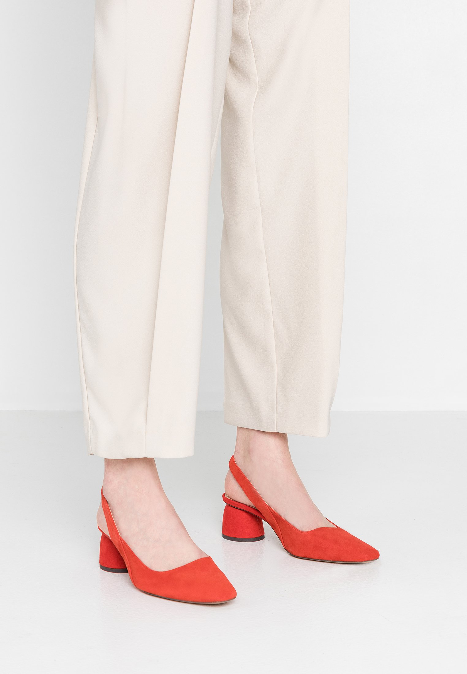 Topshop - JUSTIFY SLING COURT - Classic heels - red